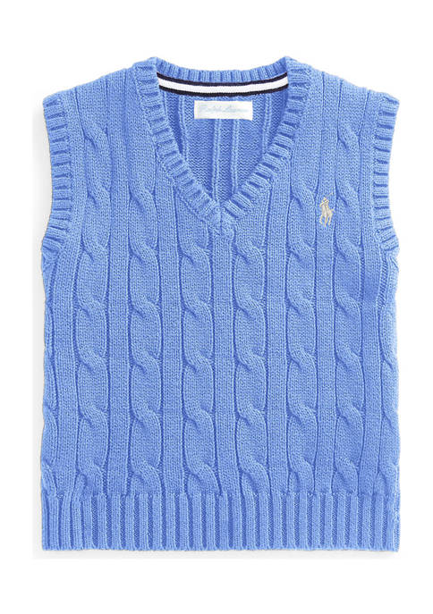 Ralph Lauren Childrenswear Baby Boys Cable-Knit Cotton Sweater