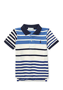 Infant Boys Featherweight Cotton Mesh Polo