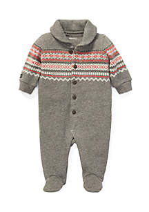 Baby Boys Cotton-Blend Fleece Coverall