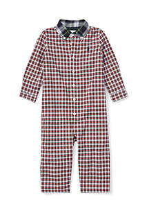 Baby Boys Plaid Cotton Poplin Coverall