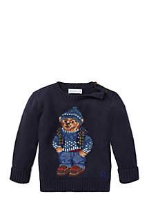 Infant Boys Polo Bear Cotton Sweater