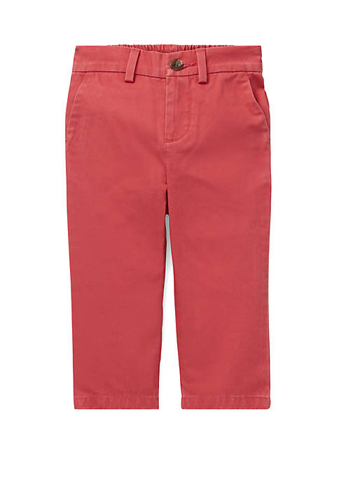 Ralph Lauren Childrenswear Baby Boys Flat-Front Cotton Chino