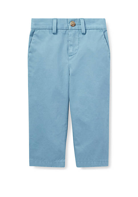 Baby Boys Flat-Front Cotton Chino