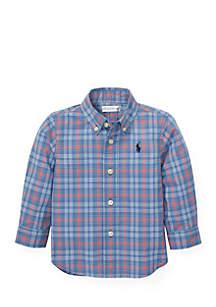 Ralph Lauren Childrenswear Baby Boys Plaid Cotton Poplin Shirt