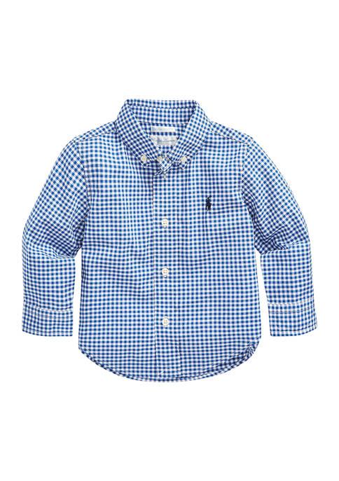 Ralph Lauren Childrenswear Baby Boys Gingham Cotton Poplin