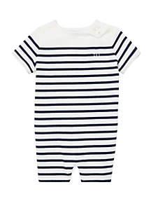 Ralph Lauren Childrenswear Baby Boys Striped Cotton Shortall