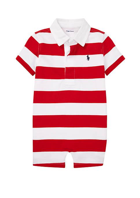 Ralph Lauren Childrenswear Baby Boys Striped Cotton Rugby