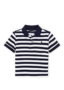 Ralph Lauren Childrenswear Baby Boys Striped Cotton Interlock Polo