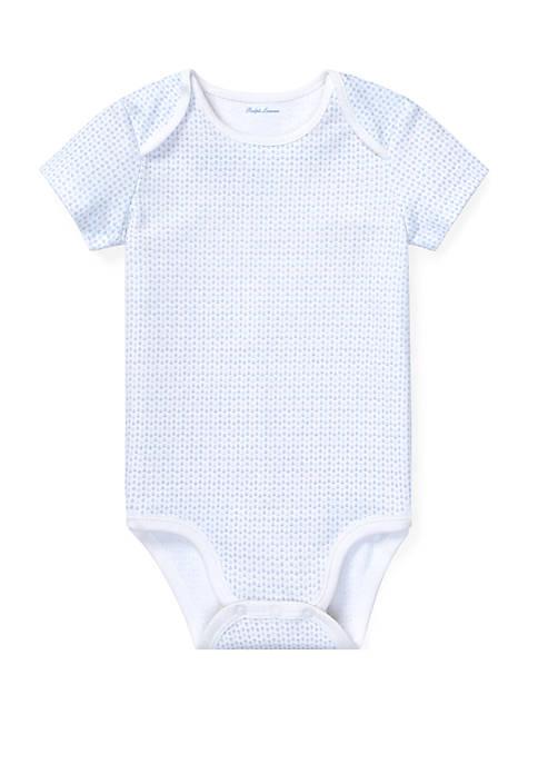 Ralph Lauren Childrenswear Baby Boys Anchor-Print Cotton Bodysuit