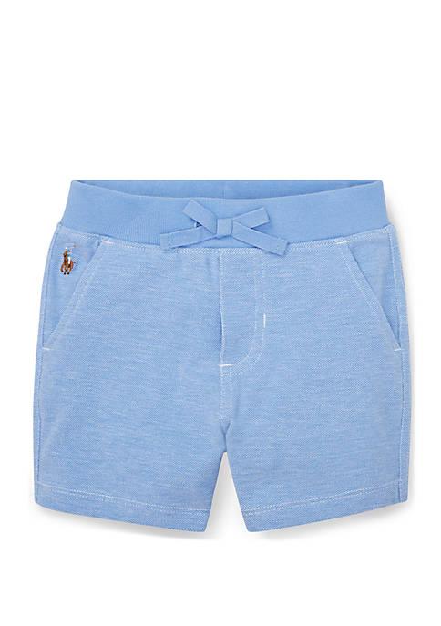 Baby Boys Knit Cotton Oxford Shorts