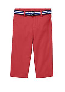 Ralph Lauren Childrenswear Baby Boys Belted Stretch Cotton Chinos