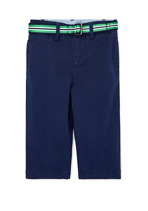 Ralph Lauren Childrenswear Baby Boys Belted Stretch Cotton