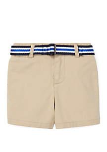 Ralph Lauren Childrenswear Baby Boys Belted Stretch Chino Shorts