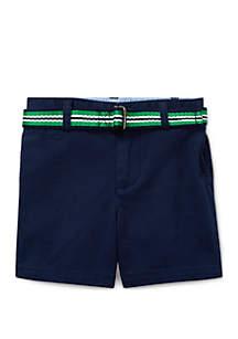 Ralph Lauren Childrenswear Baby Boys Belted Stretch Chino Short