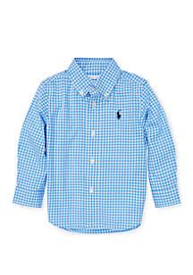 Ralph Lauren Childrenswear Baby Boys Gingham Cotton Poplin Shirt