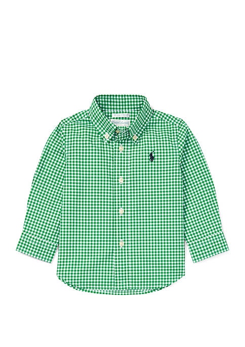 Baby Boys Gingham Cotton Poplin Shirt