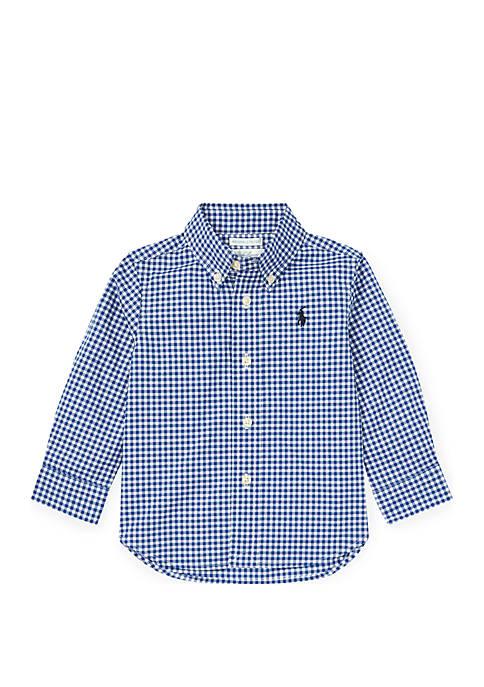 Baby Boys Gingham Cotton Poplin Shirt