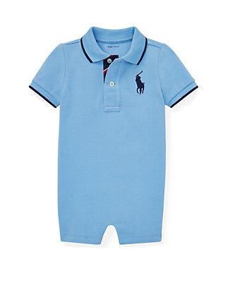 85863a199 Ralph Lauren Childrenswear. Ralph Lauren Childrenswear Baby Boys Cotton  Mesh Polo Shortall