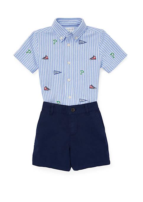 Ralph Lauren Childrenswear Baby Boys Knit Oxford Shirt