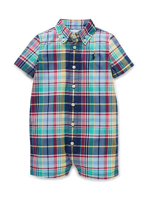 Ralph Lauren Childrenswear Baby Boys Plaid Cotton Poplin