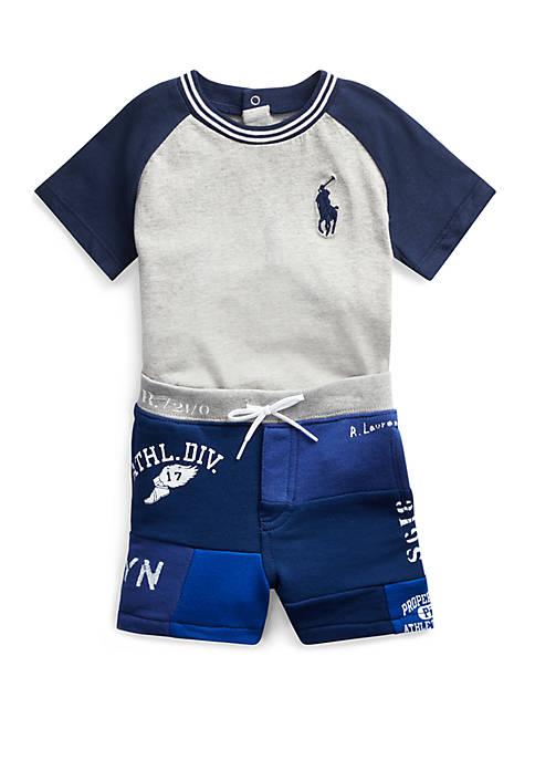 Ralph Lauren Childrenswear Baby Boys Tee and Patchwork
