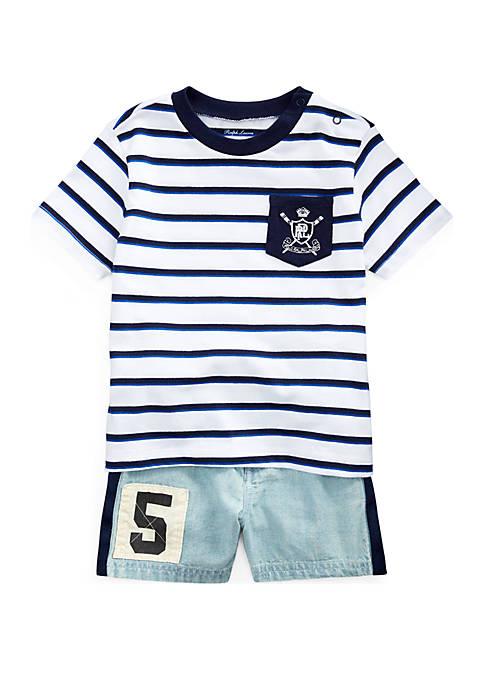 Ralph Lauren Childrenswear Baby Boys Cotton Tee and