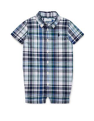aee70311a Ralph Lauren Childrenswear. Ralph Lauren Childrenswear Baby Boys Plaid  Cotton Poplin Shortall