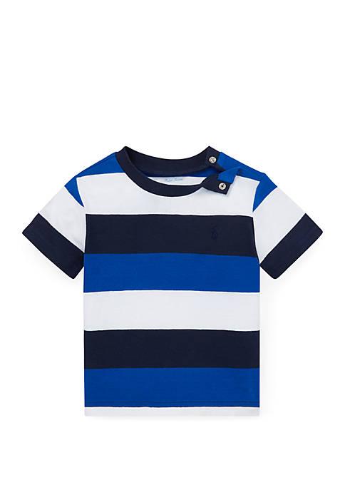Ralph Lauren Childrenswear Baby Boys Striped Cotton Jersey