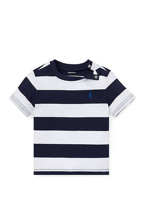 Baby Boys Striped Cotton Jersey Tee