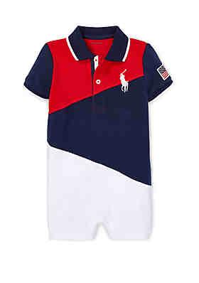 f067e66c9 Ralph Lauren Childrenswear Baby Boys Cotton Mesh Polo Shortall ...