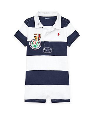 159251ba5 Ralph Lauren Childrenswear Baby Boys Striped Cotton Rugby Shortall ...