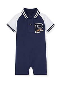 aa8769229e0a7 ... Set · Ralph Lauren Childrenswear Baby Boys Cotton Mesh Polo Shortall