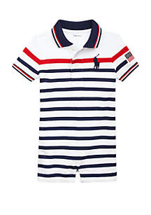 ddade491 ... Ralph Lauren Childrenswear Baby Boys Striped Cotton Polo Shortall