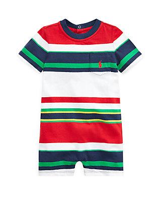 8fb72b453 Ralph Lauren Childrenswear Baby Boys Striped Cotton Jersey Shortall ...