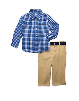 15169334 Baby Boys Plaid Shirt and Chino Pant Set