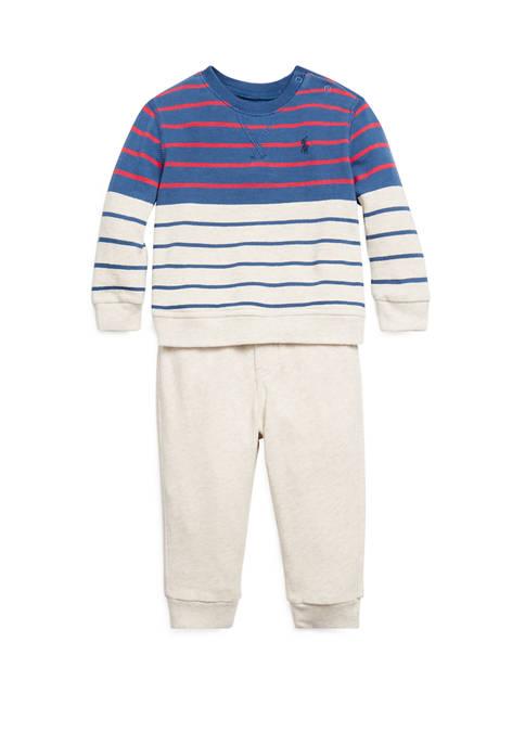 Baby Boys Terry Sweatshirt & Pant Set