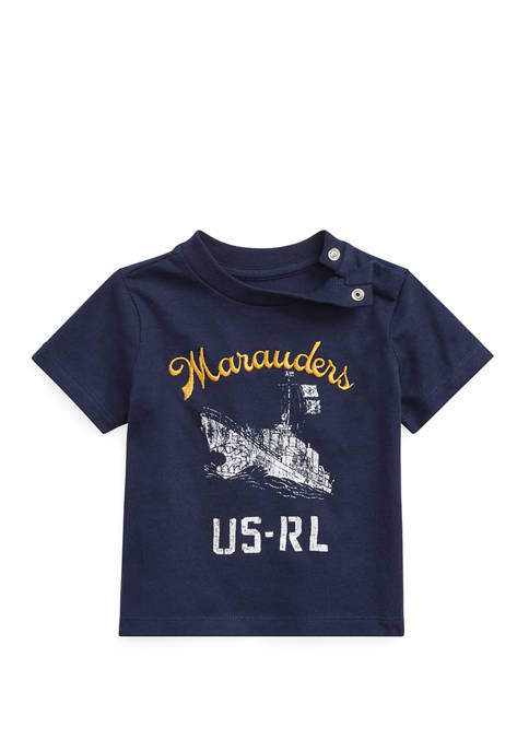 Baby Boys Cotton Jersey Graphic T-Shirt