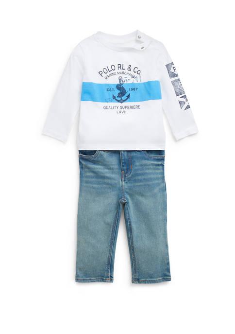 Ralph Lauren Childrenswear Baby Boys Graphic Tee &