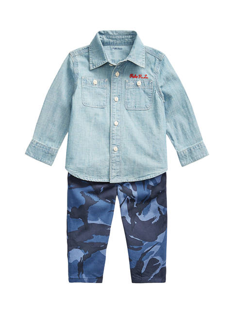 Ralph Lauren Childrenswear Baby Boys Chambray Shirt &