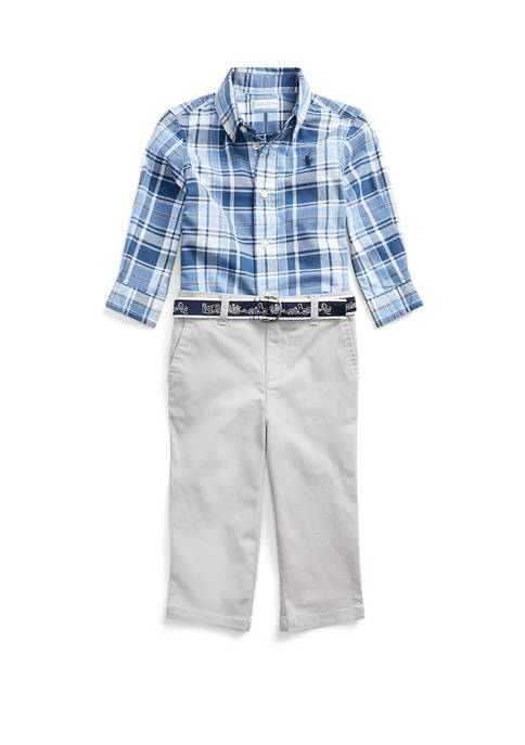 Ralph Lauren Childrenswear Baby Boys Shirt, Belt &
