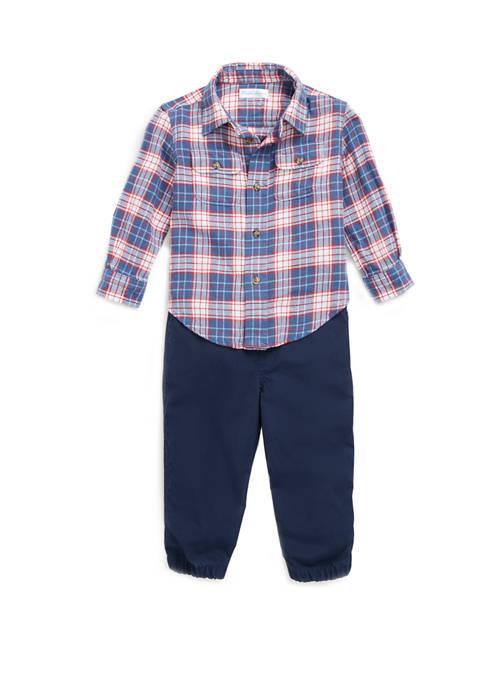 Ralph Lauren Childrenswear Baby Boys Plaid Shirt &