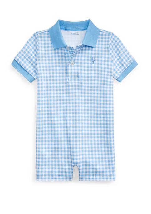 Ralph Lauren Childrenswear Baby Boys Gingham Cotton Polo