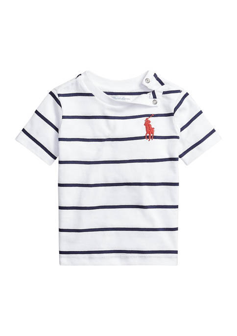 Baby Boys Cotton Jersey Crew Neck T-Shirt