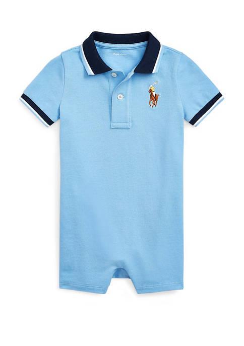 Ralph Lauren Childrenswear Baby Boys Cotton Mesh Shortalls
