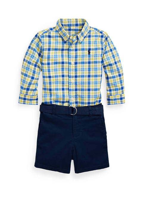 Ralph Lauren Childrenswear Baby Boys Shirt, Belt &