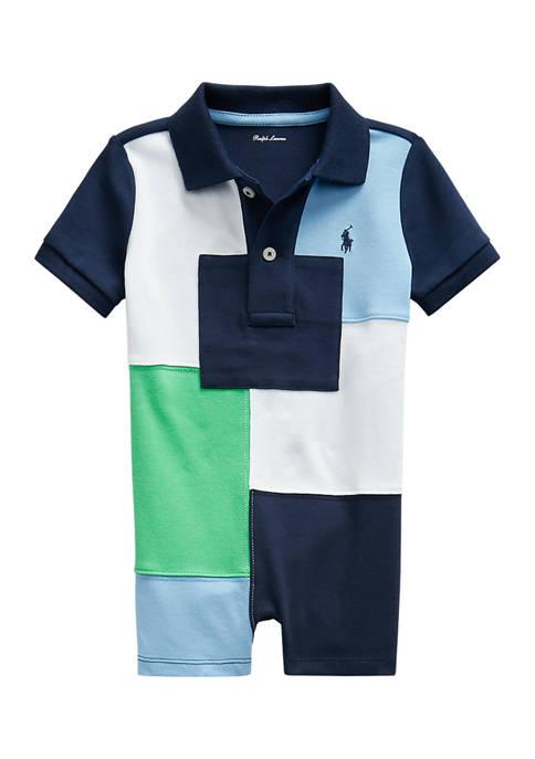 Ralph Lauren Childrenswear Baby Boys Patchwork Cotton Polo