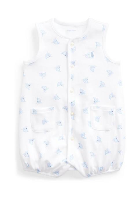 Ralph Lauren Childrenswear Baby Boys Boat-Print Cotton Interlock