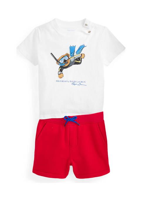 Ralph Lauren Childrenswear Baby Boys Polo Bear Tee