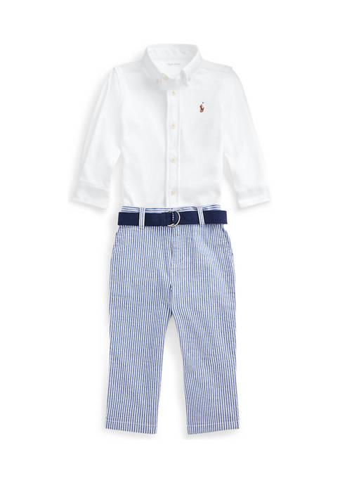 Ralph Lauren Childrenswear Baby Boys Shirt, Belt, and
