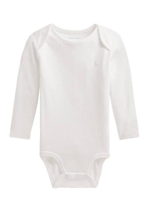 Ralph Lauren Childrenswear Baby Cotton Interlock Bodysuit